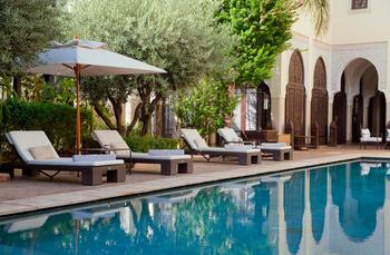Outdoor pool at La Villa des Orangers.