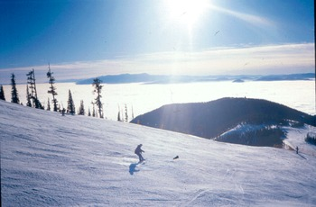 Skiing at Snowbowl.