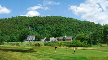 Golf course at Three Stallion Inn.