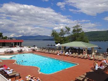 Outdoor pool at The Georgian Lakeside Resort.