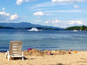 The beach at Misty Harbor & Barefoot Beach Resort.