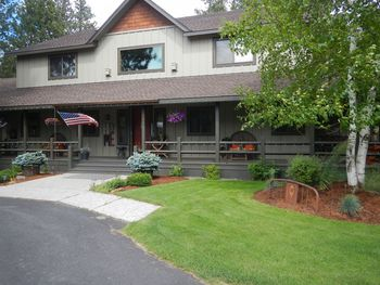 Exterior view of Blue Spruce Bed and Breakfast.
