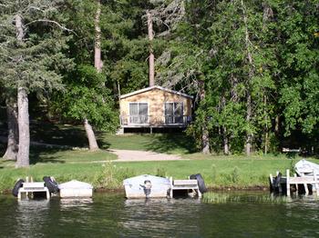 Cabin exterior at Moore Springs Resort.