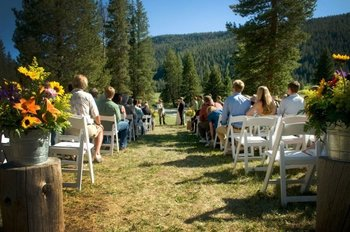 Wedding ceremony at 320 Guest Ranch.