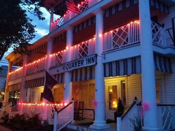 Exterior view of The Quaker Inn.