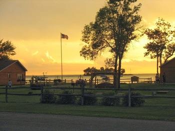 Sunset at Appeldoorn's Sunset Bay Resort.
