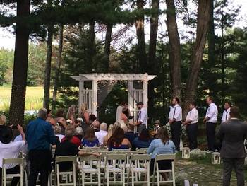 Wedding ceremony at Garland Lodge and Resort.