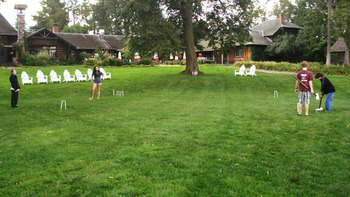 Croquet at Stout's Island Lodge.