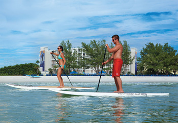 Paddle boards at Guy Harvey Outpost.