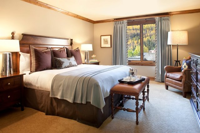 Bedroom in suite at The Sebastian Vail.