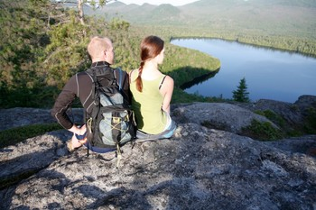Hiking at Elk Lake Lodge.