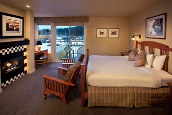 Guest room at The Resort at Port Ludlow.