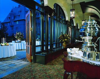Dining at Fairmont Le Manoir Richelieu.