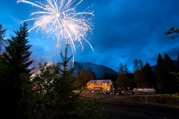 Fireworks at Izaak Walton Inn.