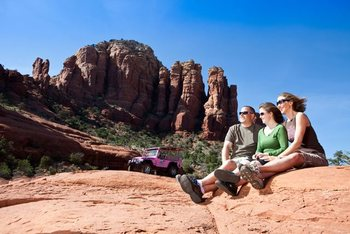 Family touring the area at Inn of Sedona.