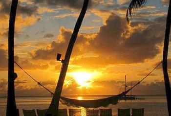 Beautiful sunset at Chesapeake Beach Resort.
