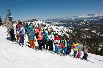 Ski lessons at Sugar Bowl Resort.