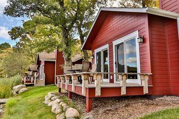 Cabin exterior at Grand View Lodge.