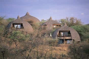 Exterior view of Serengeti Serena Safari Lodge.