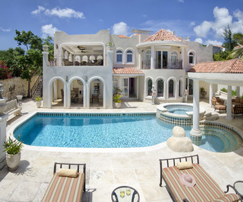 Villa pool at Island Properties Luxury Rentals.