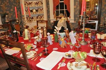 Dining room at Chatelaine Bed & Breakfast.