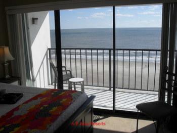 Rental bedroom at A B Sea Resorts.