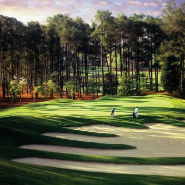 Golf course at Pinehurst Resort.