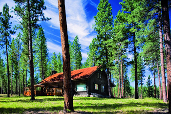 Cabin at The Resort at Paws Up.