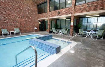 Outdoor pool at Colony South Hotel.