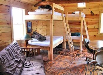 Cabin interior at Big Bear Lodge and Cabins.