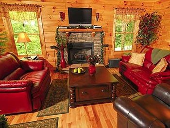 Cabin Rental Interior at Timber Tops Rentals