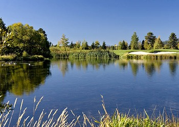 River overlooking the golf course at Sunriver Resort.