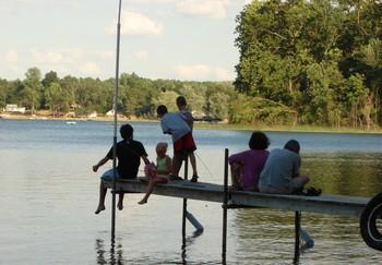 Fishing at Oak Cove Resort.