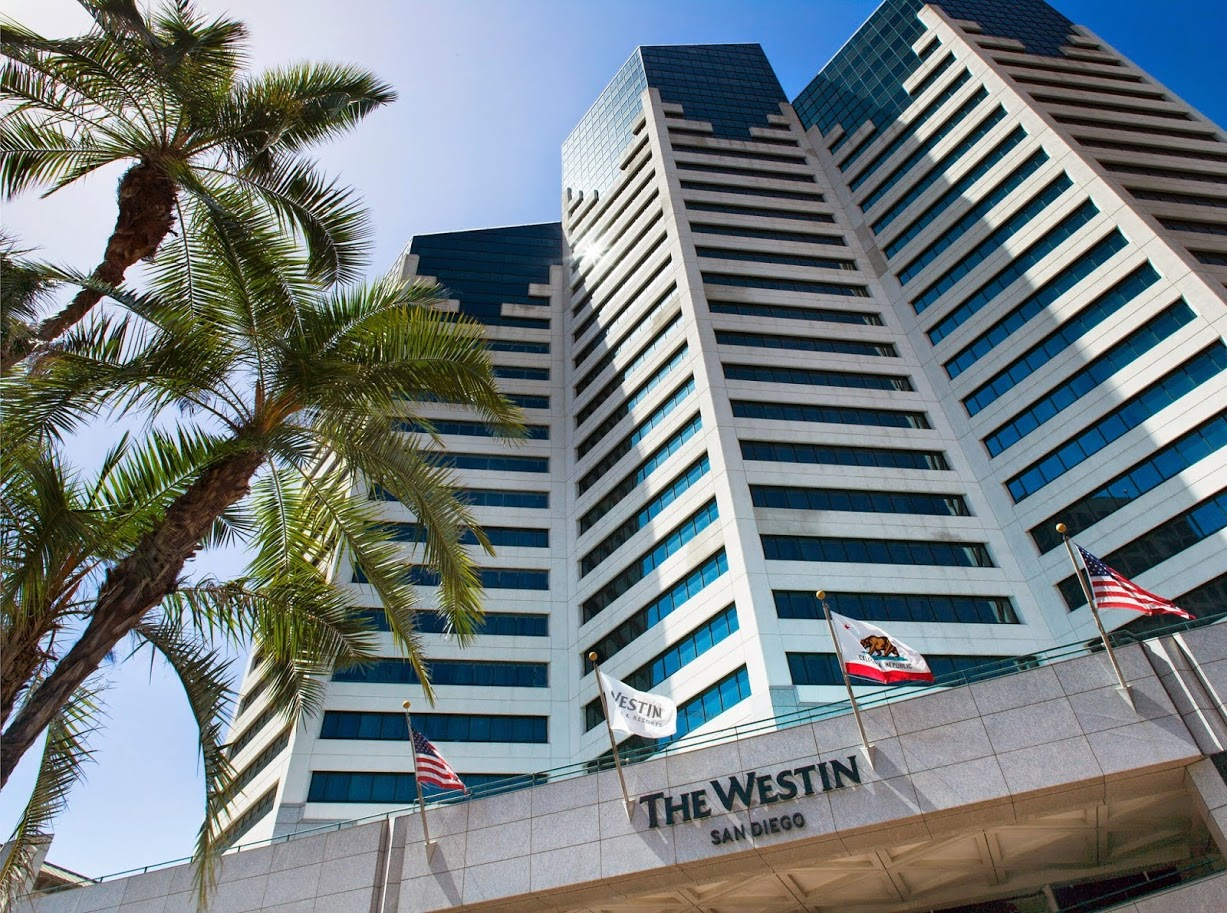 Exterior view of The Westin San Diego Emerald Plaza.
