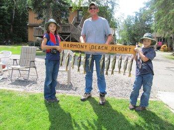 Fishing at Carlson's Harmony Beach Resort.
