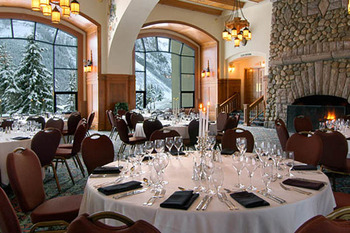 Banquet at The Fairmont Chateau Lake Louise.