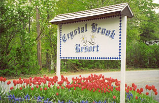 Entrance to Crystal Brook Resort