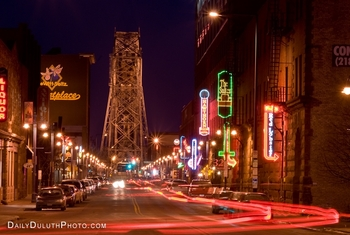 Downtown Duluth, Minnesota by The Suites Hotel at Waterfront Plaza.