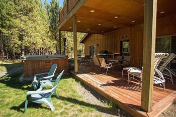 Guest porch at DiamondStone Guest Lodges.