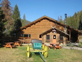 Cabin exterior at 320 Guest Ranch.