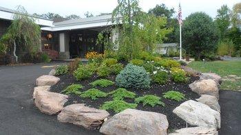 Rain garden at The Sullivan.
