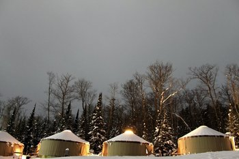 Yurt exterior at Inn on Lac Labelle.