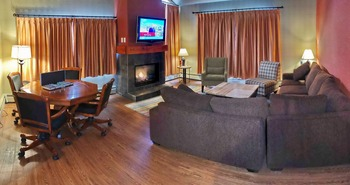 Condo interior at Inns of Banff.