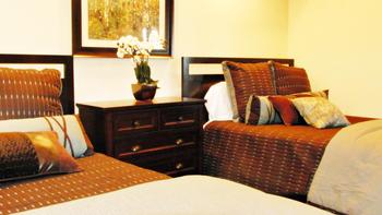 Guest bedroom at Greenhorn Creek Resort.