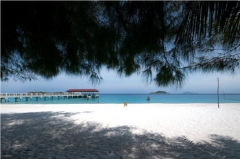 The beach at Mutiara Beach Resort.