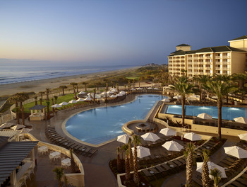 Outdoor pool and beach at Omni Amelia Island Plantation.