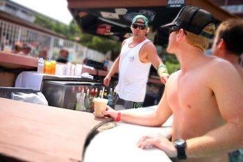 Outdoor bar at Holiday Inn Oceanfront Ocean City.