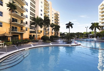 Outdoor pool at Wyndham Palm-Aire.