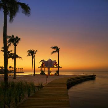 Beach amenities at Tranquility Bay Beach House Resort.