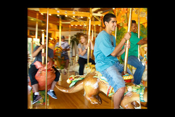 Carousel near Eagles on the River and Anderson House Hotel.